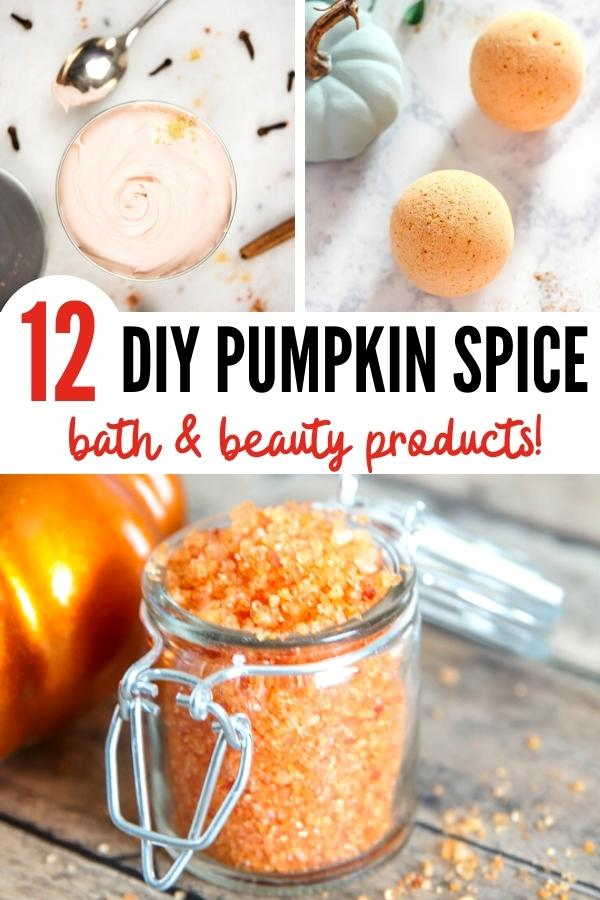 DIY pumpkin products pin image