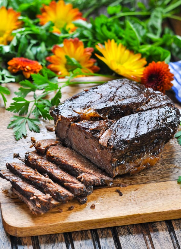 Crockpot balsamic roast beef