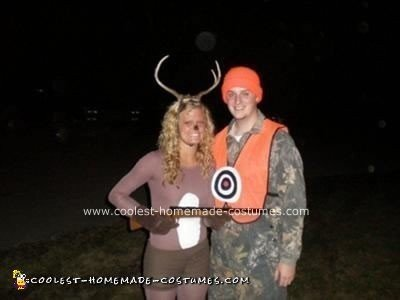 couple dressed as a deer hunter and a deer