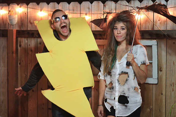 struck by lightening couples costumes