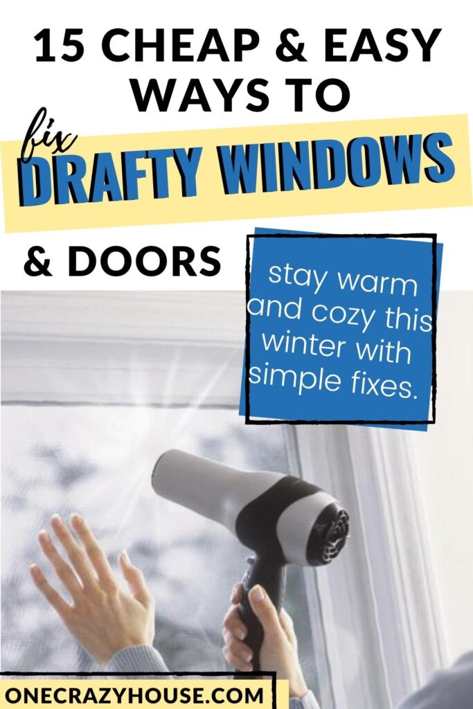 fix drafty windows and doors pin image