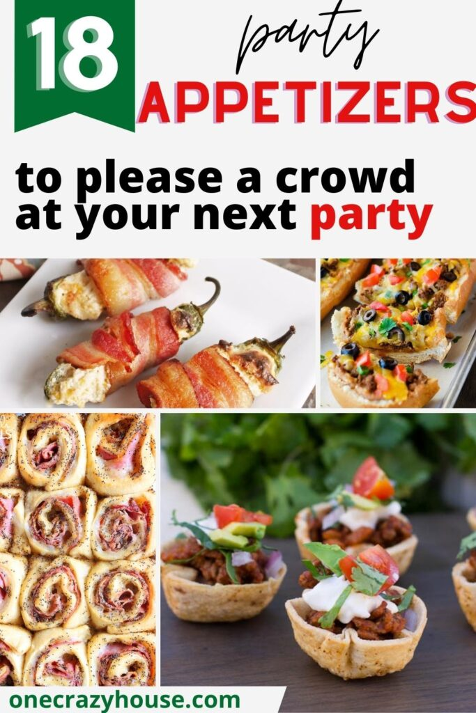 Party appetizers pin image