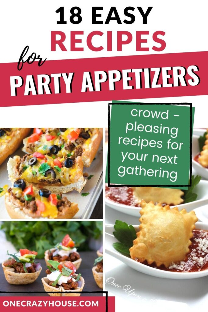 party appetizers recipes pin image