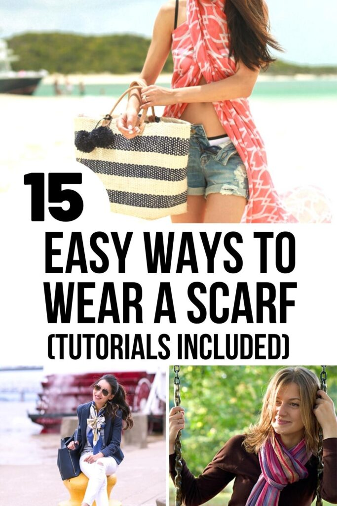 how to wear a scarf pin image