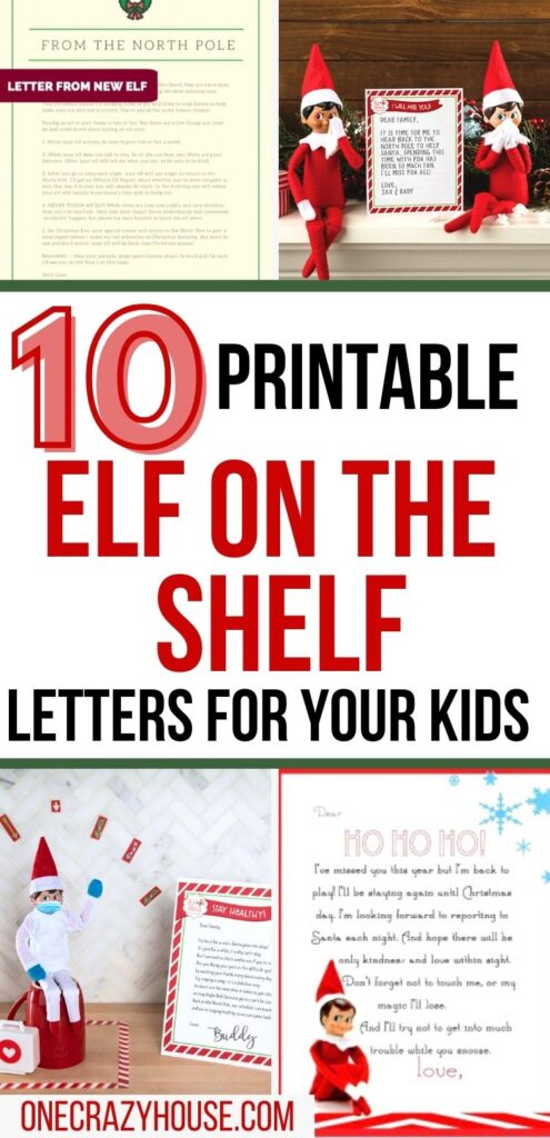 Elf on the Shelf letters pin image