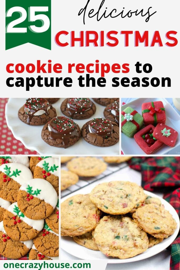 Best Christmas cookie recipes pin image