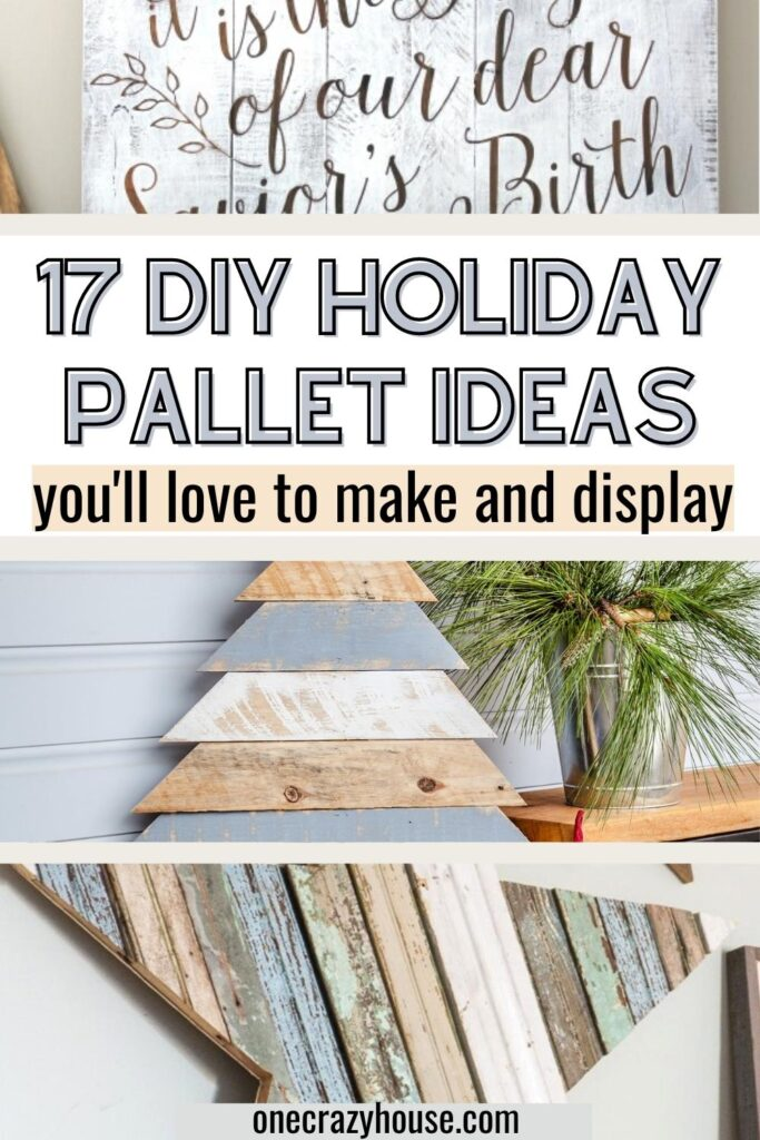 Christmas pallet ideas pin image