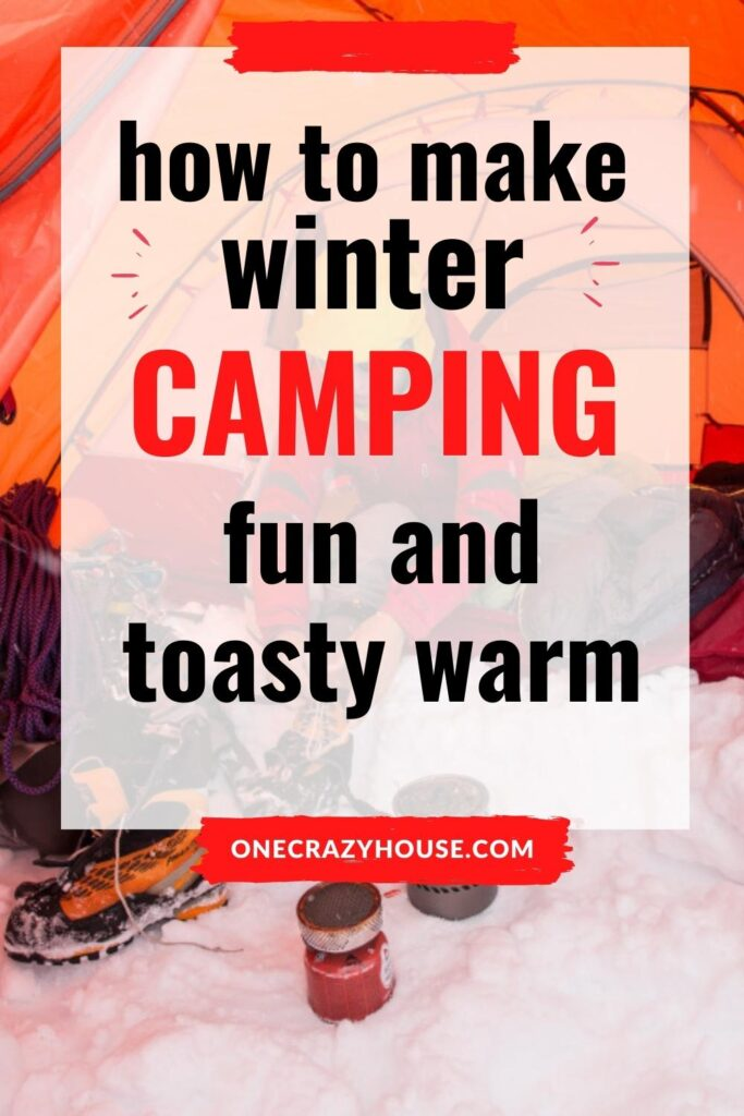 cold weather camping pin
