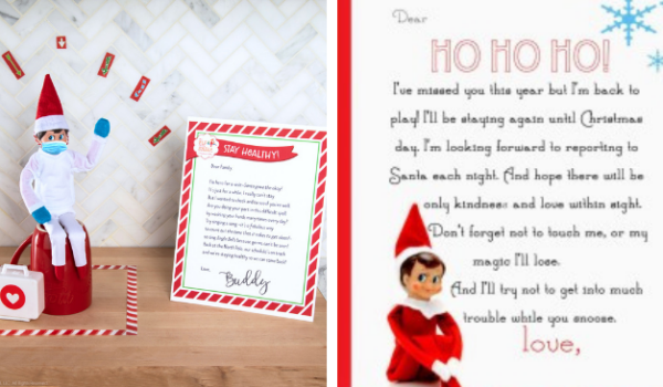 elf on the shelf letters