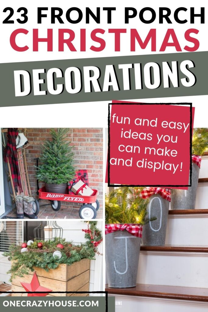 front porch Christmas ideas pin image