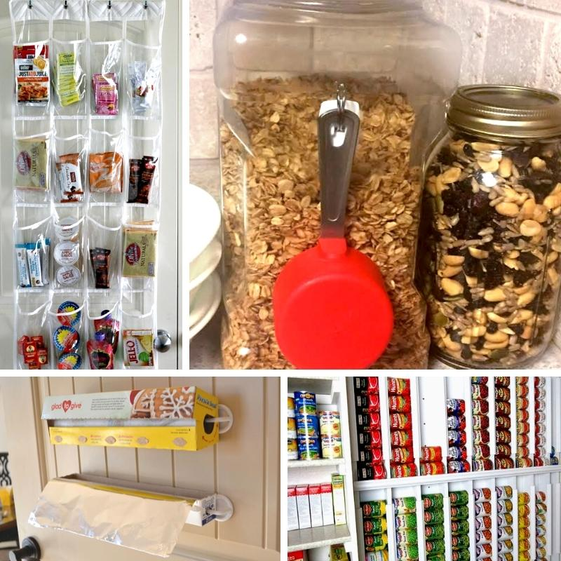 pantry organization ideas collage image